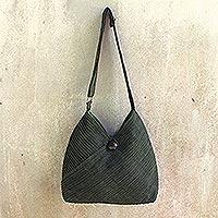 Cotton hobo bag with coin purse,