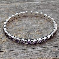 Amethyst bangle bracelet,