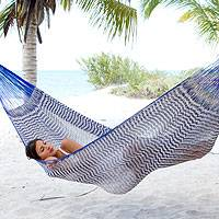 Cotton hammock Ocean Waves double Mexico