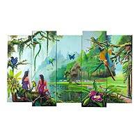 'Highland Paradise' (set of 5, 2011) - Nature Theme Set of 5 Realistic Guatemalan Oil Paintings