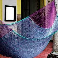 Hammock, 'Royal Pheasant' (double) - Striped Rope Hammock (Double)