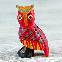 Wood alebrije flash drive, 'Wise Owl' - Handcrafted Wood Owl Alebrije Flash Drive from Mexico