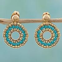 Beaded drop earrings,