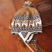 Alpaca blend chullo hat,