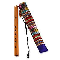 Wood quena flute, 'Andean Song' - Hand Crafted Wood Quena Flute