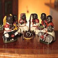 Ceramic nativity scene, 'African Christmas' (set of 10) - Ceramic nativity scene (Set of 10)