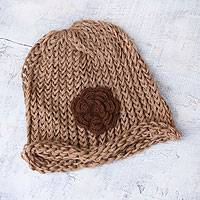 100% alpaca hat, 'Autumn Rose' - 100% alpaca hat
