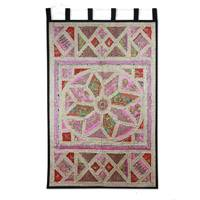 Cotton wall hanging Gujrati Lotus India