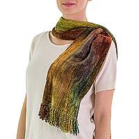 Cotton blend scarf,