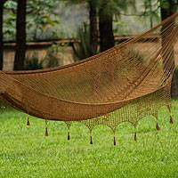 Hammock, 'Copper Filigree' (double) - Mexican Solid Rope Hammock (Double)