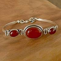 Carnelian pendant bracelet,