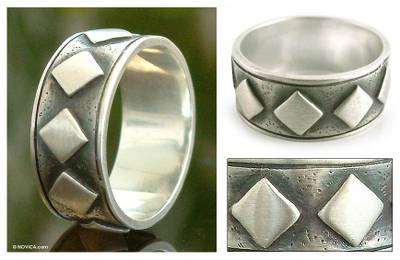 real silver mood rings - Sterling silver band ring