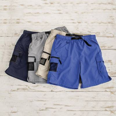 Men's nylon shorts, 'Adventure Ahead' - Quick-dry Adventure Water Shorts