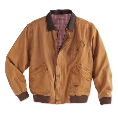 Men's cotton canvas jacket, 'Outback Adventure' - Men's Outback Canvas Jacket