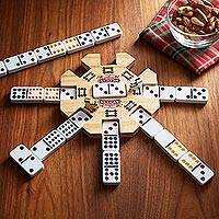Mexican train dominoes set, 'Station Master' - Mexican Train Dominoes