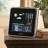 Wireless weather station, 'Rain or Shine' - Wireless Color Forecast Station with Atomic Clock