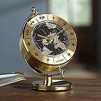 Seiko world time clock, 'Globe' - Seiko Globe World Time Clock