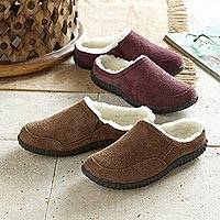 Women's suede travel shoes, 'Comfortable Style' - Women's Sheepskin and Leather Travel Shoes