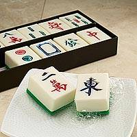 Guest soaps, 'Mah-Jongg' (boxed set of 12) - Small Mah-jongg Tile Guest Soaps (Boxed Set of 12)