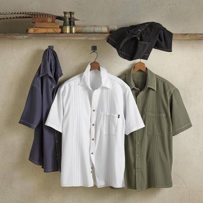Mens cotton shirt, Island Guayabera