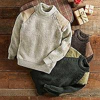 Men's wool sweater, 'British Isles' - British Isles Walking Sweater