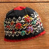 Wool hat, 'Pretty Patan' - Patan Hand-knit Hat