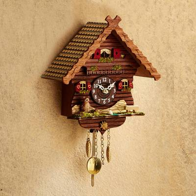 Mini cuckoo clock, Owls Cottage