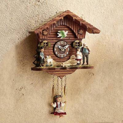 Mini cuckoo clock, 'Black Forest Swing' - Black Forest Swing Cuckoo Clock
