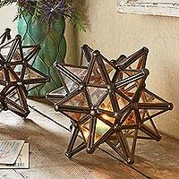 Tealight candle holder, 'Star of Mexico' - Mexican Star Tealight Candle Holder
