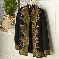 Wool jacket, 'Paisley Flourish' - Paisley Flourish Wool Jacket