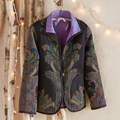 Reversible wool jacket, Brindavan Gardens