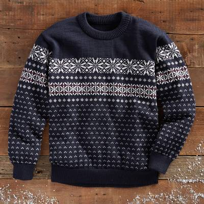 Mens wool sweater, Balmoral