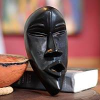 Ivoirian wood mask, 'Dan Peacemaker' - Ivory Coast Wood Mask from Africa
