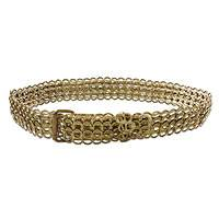 Soda pop-top belt, 'Bronze Chain Mail' - Unique Recycled Aluminum Belt