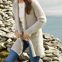 Featured review for Mohair blend cardigan, Etruscan Cozy