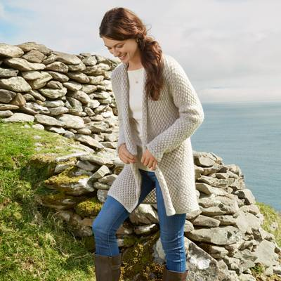Mohair blend cardigan, 'Etruscan Cozy' - Etruscan Cozy Cardigan