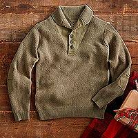 Men's wool sweater, 'Over There' - World War II Military Sweater