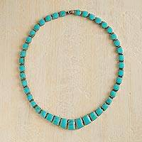 Turquoise statement necklace,