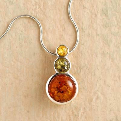 Amber pendant necklace, Ancient Magic