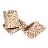 Natural fiber baskets, 'Lombok Harmony' (set of 3) - Set of Three Handwoven Catchall Baskets of Natural Fibers