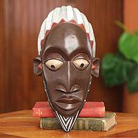 African mask, 'Ghanaian Alhaji' - Hand Carved African Mask