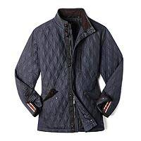Men's heat system nylon travel jacket, 'Rugged Roads' - Nylon Quilted Jacket with Battery Powered Heat
