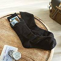 Travel socks (3 pairs), 'Zip-It' - Set of Three Pairs of Men's Zip=It Travel Socks