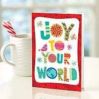UNICEF holiday cards, 'Joy to Your World' (set of 12) - Joy to Your World UNICEF Cards (set of 12)