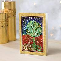 UNICEF holiday cards, 'Holly Tree' (set of 20) - Holly Tree UNICEF Cards (set of 20)