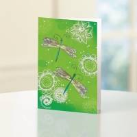 UNICEF everyday cards, 'Dragonfly' (set of 12) - Dragonfly UNICEF Everyday Card (set of 12)