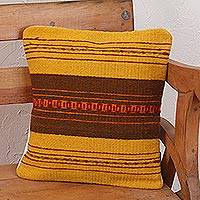 Zapotec wool cushion cover, 'Zapotec Vibes' - Handcrafted Wool Zapotec Cushion Cover