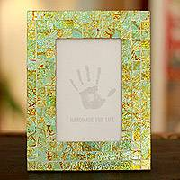 Mosaic glass photo frame,