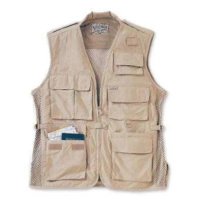 Men's nylon travel vest, 'Weekender' - Men's Lightweight Nylon Travel Vest
