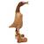 Wood sculpture, 'Natural Duck Squawks' (10 inch) - Natural Finish 10 Inch Duck Figurine Hand Carved from Wood thumbail